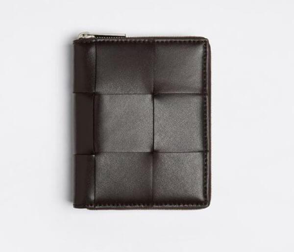ボッテガ・ヴェネタでおすすめのファスナー付き二つ折り財布:ミニウォレット スタイル:649596VBWD22145