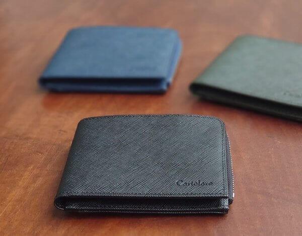 ミニマリスト愛用のメンズ財布:二つ折りタイプ(お札/小銭入れ/カード):Cartolare(カルトラーレ)