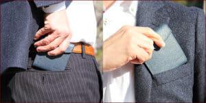 Cartolareでおすすめの札入れ「2つ折り財布タイプ」:薄い二つ折り財布 フラットウォレット