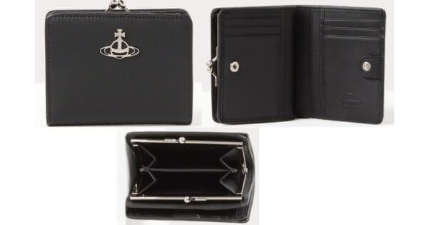 ヴィヴィアンウエストウッドでおすすめの2つ折りがま口財布:DEBBIE 口金二つ折り財布