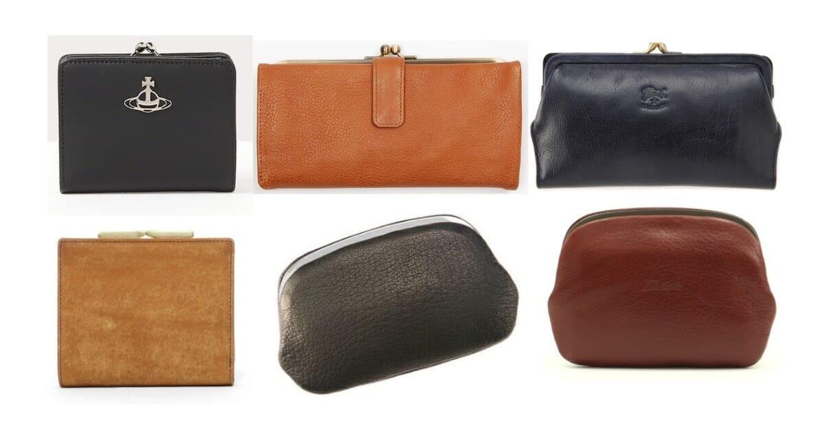 男性にオススメなのは素材に革を使用したレザータイプのがま口財布